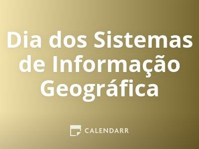 Dia dos Sistemas de Informação Geográfica