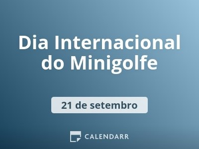 Dia Internacional do Minigolfe