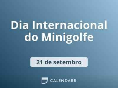 Dia Internacional do Minigolfe