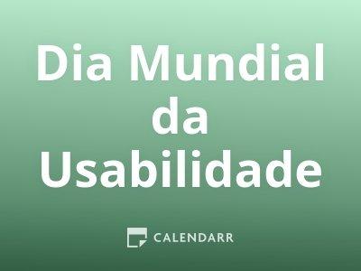 Dia Mundial da Usabilidade