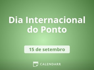 Dia Internacional do Ponto