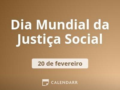 Dia Mundial da Justiça Social