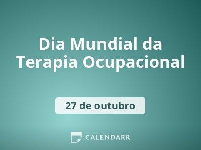 Dia Mundial da Terapia Ocupacional