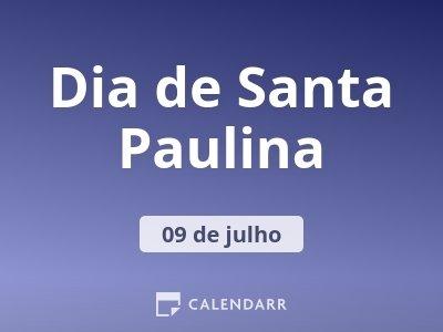 Dia de Santa Paulina
