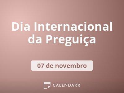 Dia Internacional da Preguiça