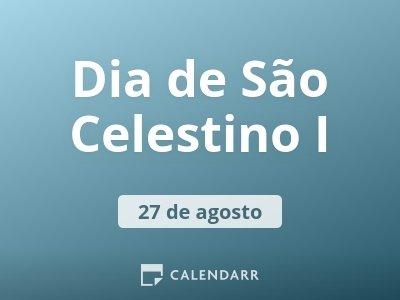 Dia de São Celestino I