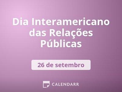 Dia Interamericano das Relações Públicas