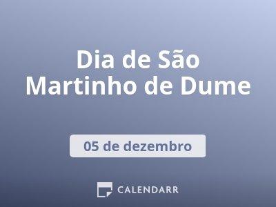 Dia de São Martinho de Dume