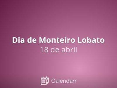 Dia de Monteiro Lobato