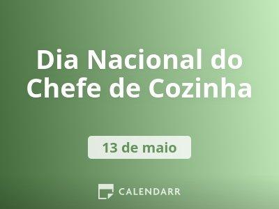 Dia Nacional do Chefe de Cozinha
