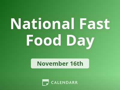 National Fast Food Day