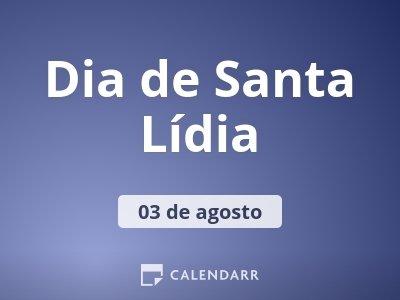 Dia de Santa Lídia