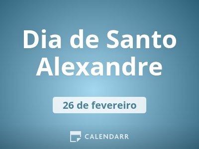 Dia de Santo Alexandre
