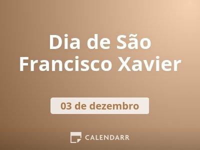 Dia de São Francisco Xavier
