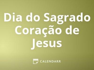 Dia do Sagrado Coração de Jesus