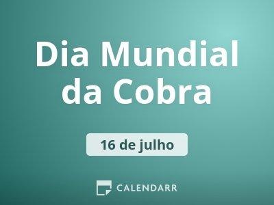 Dia Mundial da Cobra