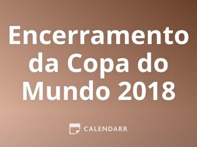 Encerramento da Copa do Mundo 2018