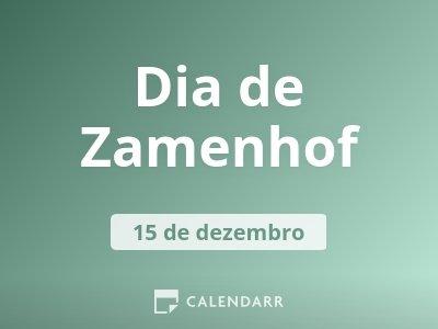 Dia de Zamenhof