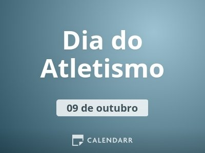 Dia do Atletismo