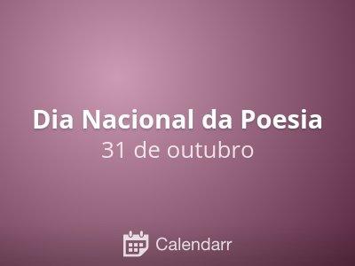 Dia Nacional da Poesia