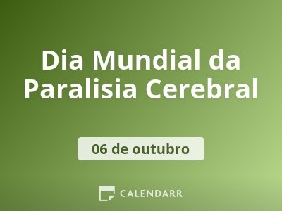 Dia Mundial da Paralisia Cerebral