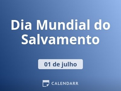 Dia Mundial do Salvamento