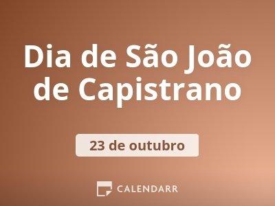 Dia de São João de Capistrano
