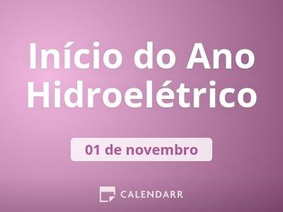 Início do Ano Hidroelétrico