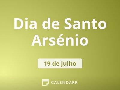 Dia de Santo Arsénio