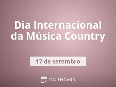 Dia Internacional da Música Country