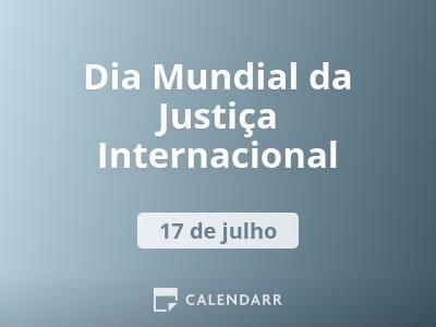 Dia Mundial da Justiça Internacional