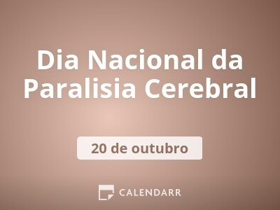 Dia Nacional da Paralisia Cerebral