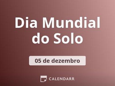 Dia Mundial do Solo