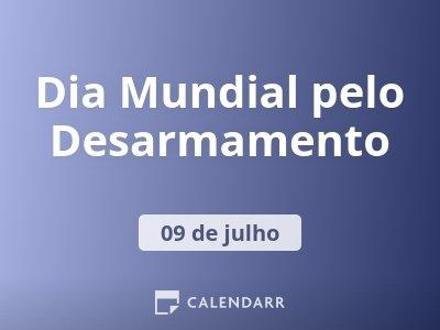 Dia Mundial pelo Desarmamento