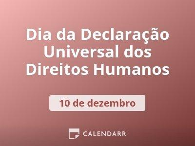 Dia da Declaração Universal dos Direitos Humanos