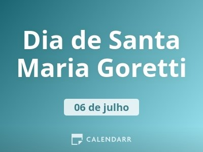 Dia de Santa Maria Goretti