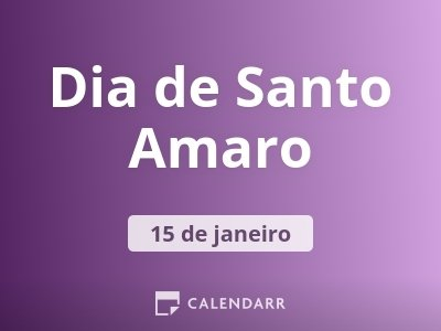 Dia de Santo Amaro