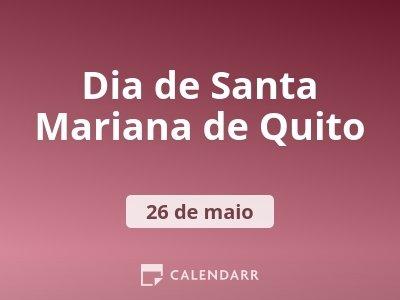 Dia de Santa Mariana de Quito