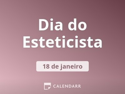 Dia do Esteticista