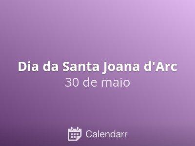 Dia da Santa Joana d'Arc
