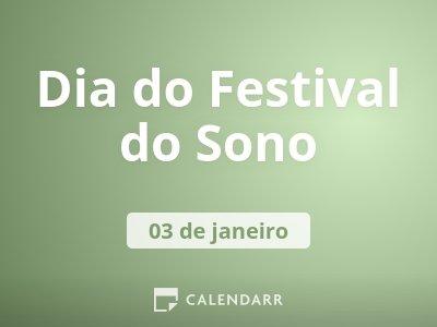 Dia do Festival do Sono