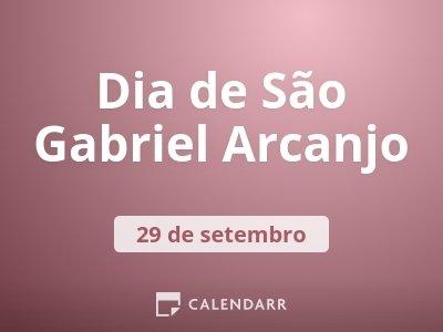 Dia de São Gabriel Arcanjo