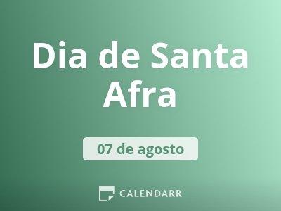 Dia de Santa Afra