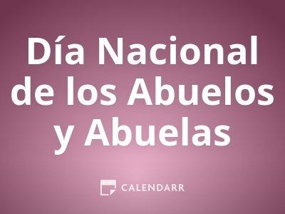 Día Nacional de los Abuelos y Abuelas