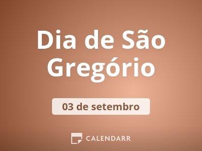 Dia de São Gregório