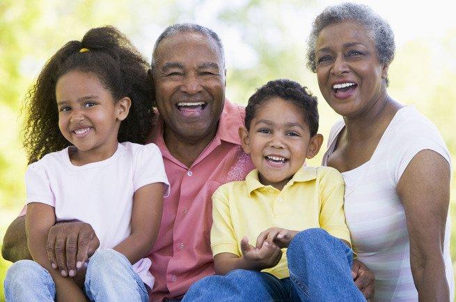 sessão de fotos com avós