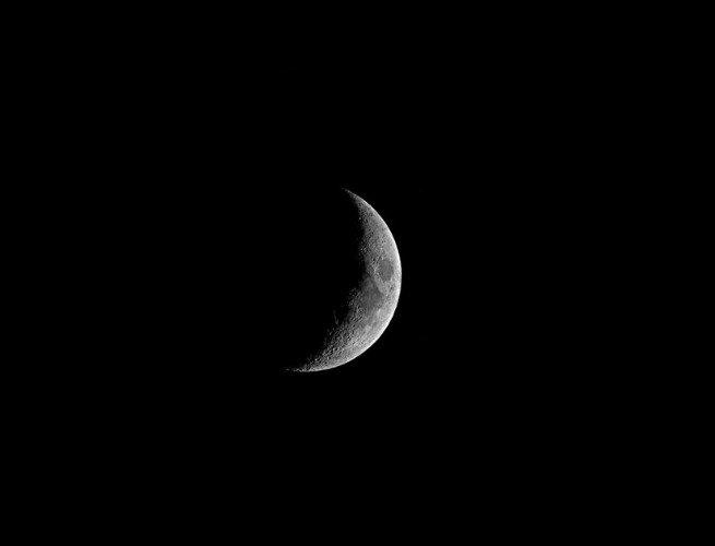 Luna creciente cóncava