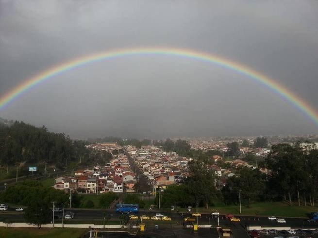 Día lluvioso en la ciudad de Cuenca (Ecuador)