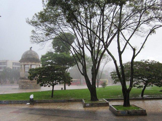 Imagen de un día de lluvia en Bogotá