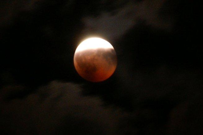 eclipse parcial de luna llena
